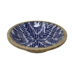 MKI Blue Wooden Meenakari Bowl