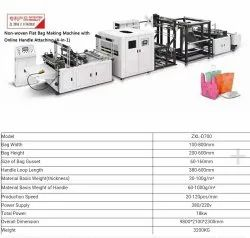 Eco Friendly High Speed Non Woven Handle Bag Carry Bag Making Machine ZXL D700