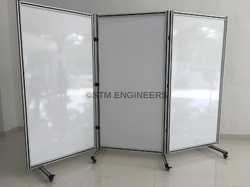 Space Saving Trifold Whiteboard System