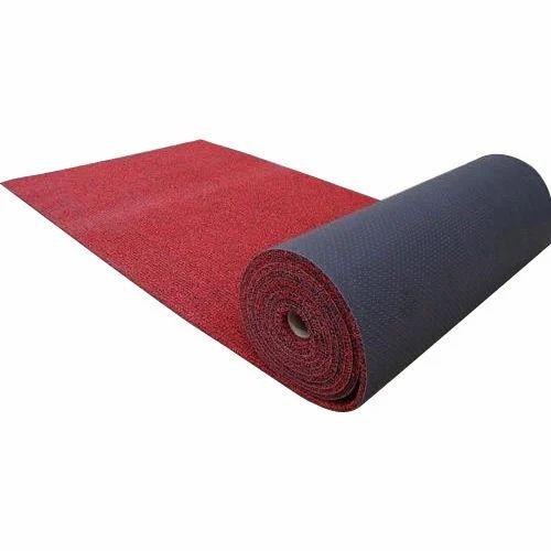 Plain Red PVC Flooring Carpet, Vinayak Foam And Furnishing
