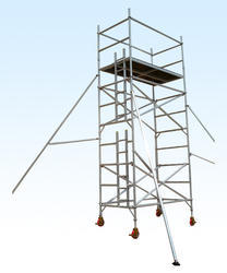 Mobile Aluminum Scaffold Tower With Ladder