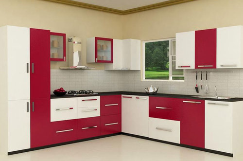 L Shaped Modular Kitchen At Rs 900 Square Feet Modular Kitchens