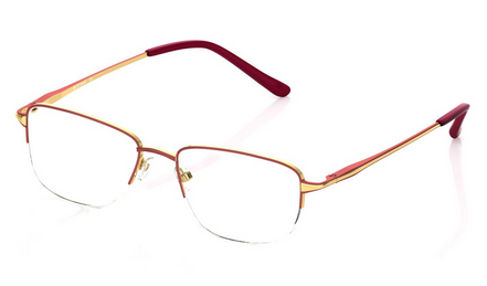 a7881c696269 Titan Maroon With Gold T2325a1a1 Semi-rimmed Eyeglasses