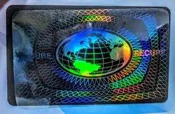 Identity Card Transparent Hologram Overlay