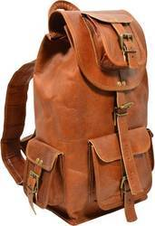 New Genuine Vintage Leather Backpack Rucksack Travel Bag For Men's and Women's