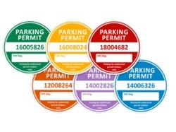 Four Wheeler (Car) Parking Sticker / Labels