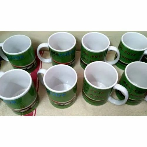 White Printed Ceramic Sublimation Coffee Mug for Home, Capacity: 325 mL