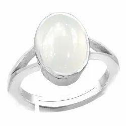 Chandrakant Mani Ring Silver Gemstone