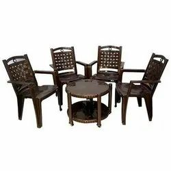 Neelkamal With Arms Chair Nilkamal Plastic Table Chair Set, for Indoor