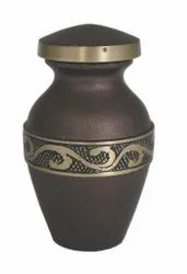 Rounded metal fancy urn