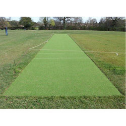 Green Synthetic Cricket Pitch Rs 130 Square Feet Topfield Sports Infra Id 19018451655