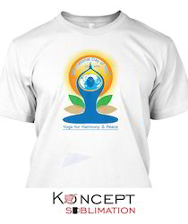 Yoga Day Printed T Shirts