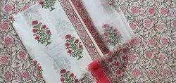 Vinayakam Exports Jaipur Hand Block Printed Cotton Kota Doria Dupatta Set