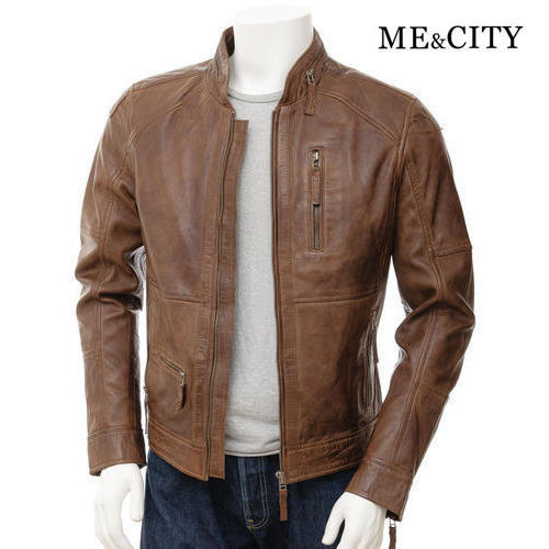 3f92e5ef022 Mens Leather Full Sleeve Brown Winter Jacket, Size: M-XXL, Rs 1450 ...