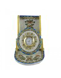 Jaali Marble Mobile Holder Cum Watch Holder
