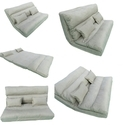 Floor Sofa Cum Bed - 180 Cm Wide - Beige