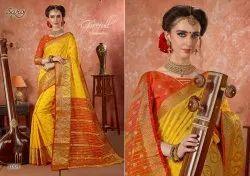 Aarti By Saroj Silk With Beautiful Border Traditional Wear Saree