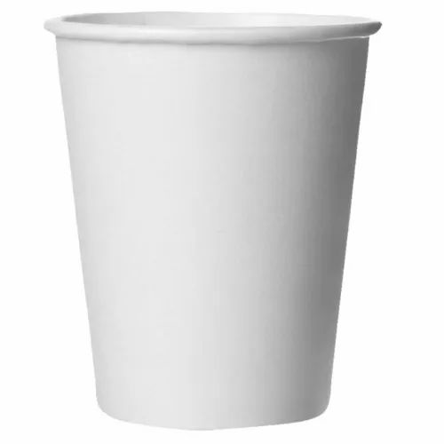 White Plain Cold Drink Paper Cup, Features: Disposable, Capacity: 250-300 Ml