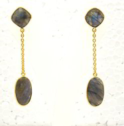 Natural Labradorite Earrings