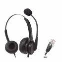 Black Aria Rj9 Headset, Model Number: Ar18n, Weight: 200g
