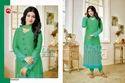 Green Full Sleeve Moof Salwar Suit