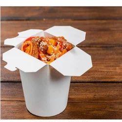 750 Ml Plain Paper Food Wok Box