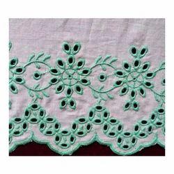Embroidered Cotton Schiffli Fabric