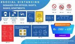 Corona Virus Self Distancing Stickers, Packaging Type: Packet