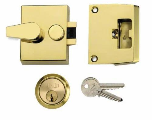 Rim Locks - Security - 1037-L1037 Narrow Stile Cylinder Night Latch