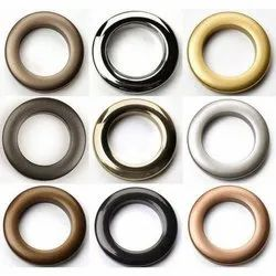 Golden Brass Curtain Ring Eyelets, Packaging Type: Box