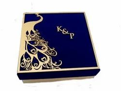 Royal Blue Peacock Design Box