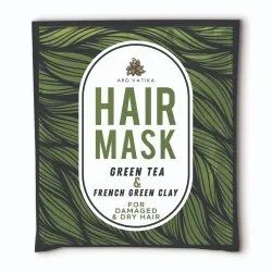 Arovatika Green Tea and French Green Clay Natural Hair Mask (For Damage and Dry Hair) 25 ml