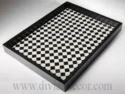 Checkered/Chess Pattern Bone Inlay Tray (Authentic & High Quality)