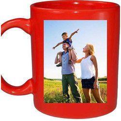 Multicolor Ceramic Photo Coffee Mug, Size: 250-350 mL