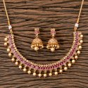 Brass Gold Plated Antique Classic Necklace 203270, Size: Regular Size And Adjustable