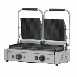 Stainless Steel Double Head Sandwich Griller, For Commercial, Power: 2.2KW