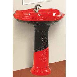 Vitrosa Serena Pedestal Wash Basin