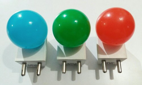 Pluggy model- Just plug and play 8 colours 0.5w Led Bulb-Plug in type, for Night Lamp