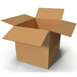 Single Wall - 3 Ply Rectangle Corrugated Cardboard Box, for Food, Box Capacity: 6-10 Kg