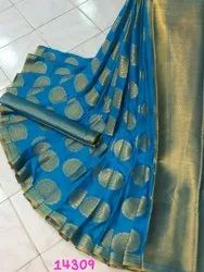 Multicolor Party Wear Pure Mysore Silk Saree By Shivam Arts