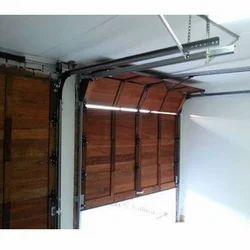 Automatic Wooden Garage Door