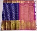 Indian Ethnic Designer Kancheepuram Silk Blue Bridal Wear Saree