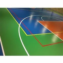 Green, Blue and Red Outdoor Synthetic PU Handball Court