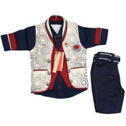 Boys Cotton Wedding Wear Baby Suit