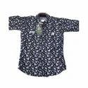Kids Collar Neck Printed Shirt