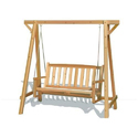 Brown Wooden Swing Chair