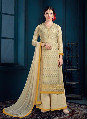 e323ca87e Embroidered Designer Sharara Suits