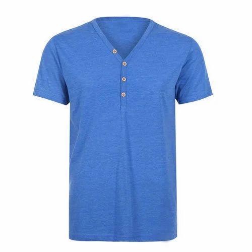 aac44b52bb4 Men Cotton Designer V Neck T Shirt
