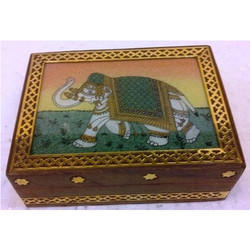 Gems Stone Wooden Box