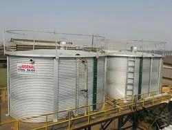 Overhead Bolted Steel Liquid Storage Tank